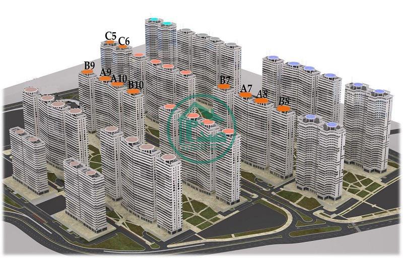 نقشه و پلان برج های شهرک خرازی