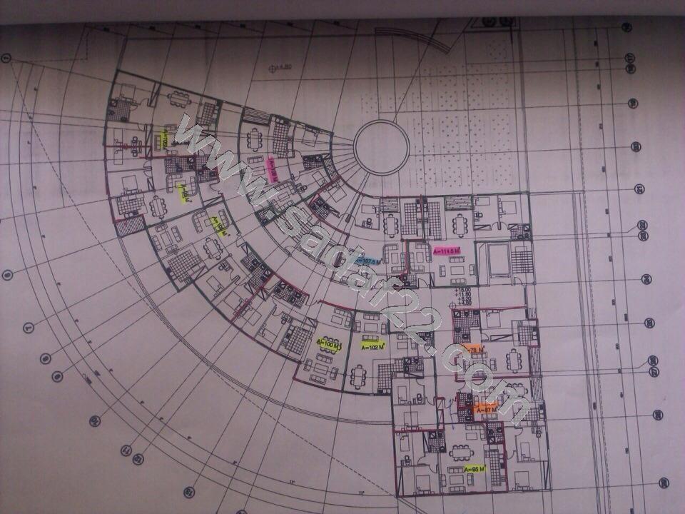 پلان نقشه پروژه سپانیر در میدان ساحل منطقه 22